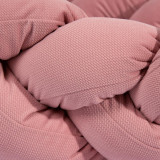 Protectie laterala patut bebe bumper impletit Velvet Dirty Pink 210 cm