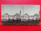 Bucuresti vedere stereoscopica Pavilionul Regal Expozitia Nationala, Circulata, Printata