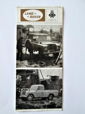 Pliant / Reclama veche: Land-Rover - Printed in England 1966 foto
