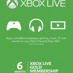 Xbox Live Gold Membership (6 luni)