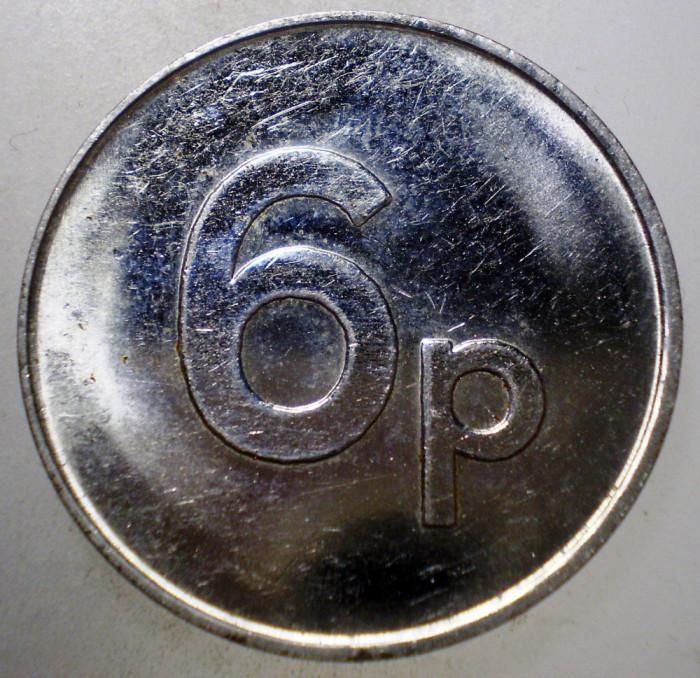 7.823 JETON MAREA BRITANIE CORABIE 6P 27,5mm