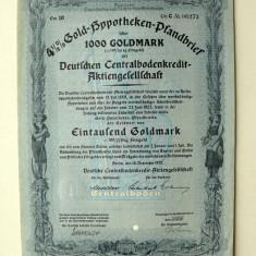 Titlu De Stat Obligatiune Germania-1937-1000-Goldmark