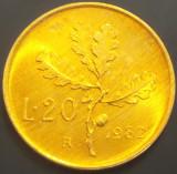Moneda 20 LIRE- ITALIA, anul 1982 *cod 3169 --- UNC, Europa