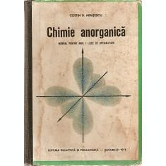 Chimie Anorganica. Manual Pentru Anul I Licee De Specialitate -