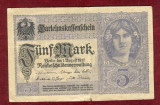 Bancnota Germania  - FUNF MARK  - 5 MARK  1917
