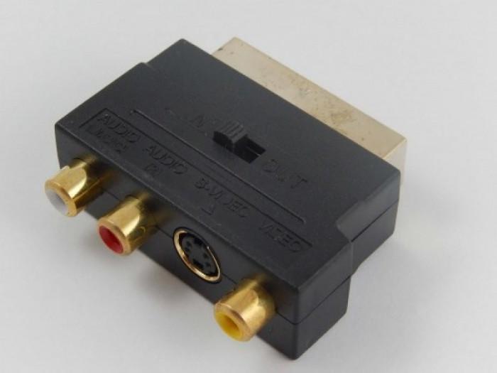 Adapter 3rca-buchse auf scart-stecker, ,