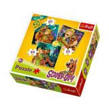 Puzzle Scooby Doo 3 in 1 Atentie fantoame !