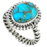 Cumpara ieftin Inel bijuterie din argint 925 cu turcoaz albastru