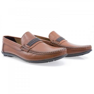 Pantofi barbati Caspian din piele naturala Cas-611-TABA foto