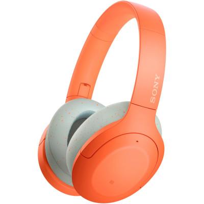 Casti Sony WH-H910ND, Noise Canceling, Quick attention, Hi-Res, Wireless, Bluetooth, NFC, LDAC, Autonomie de 35 ore, Portocaliu foto