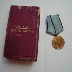 Medalia Meritul Militar cls. I RPR, la cutie