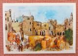 Ierusalim, Cetatea. Dupa Ronnie Goldberg - Carte Postala necirculata, Israel, Printata