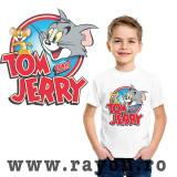 Cumpara ieftin Tricou Copii Personalizat , Bumbac – Tom & Jerry