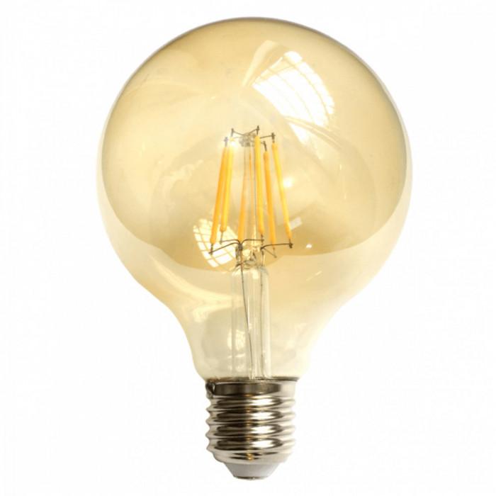 Bec LED Filament Amber E27 8W 800LM 2500K G125