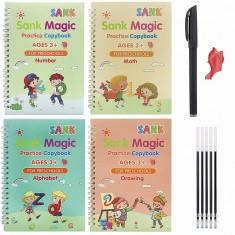 Set de 4 carti pentru copii, stilou cu 5 rezerve inclus, model S4C03