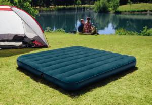 Saltea gonflabila Intex, camping, 2 persoane, 203x152x25 cm pompa + 2 perne