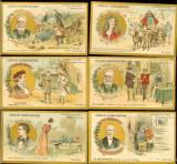 Lot cartonase ciocolata Guerin-Boutron, 39 buc, autori celebri