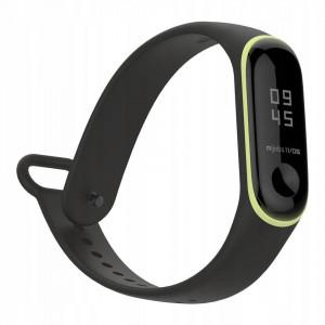Curea silicon Tech-Protect Smooth Xiaomi Mi Band 3/4 Black/Yellow