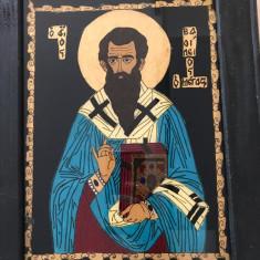 "icoana pe sticla-""Sf.Vasile cel Mare"""