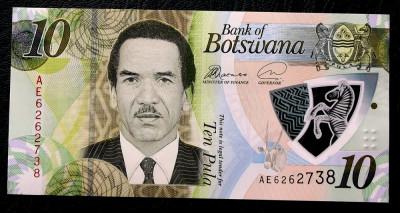 Botswana 10 Pula 2018 polimer UNC necirculata ** foto