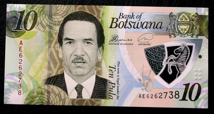 Botswana 10 Pula 2018 polimer UNC necirculata **