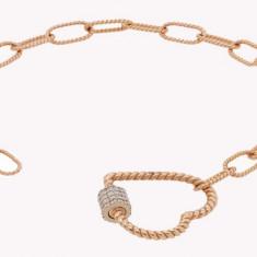 Bratara aur rose 18k cu diamante