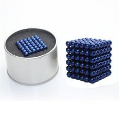 Puzzle antistres magnetic NeoCube, 216 sfere albastru