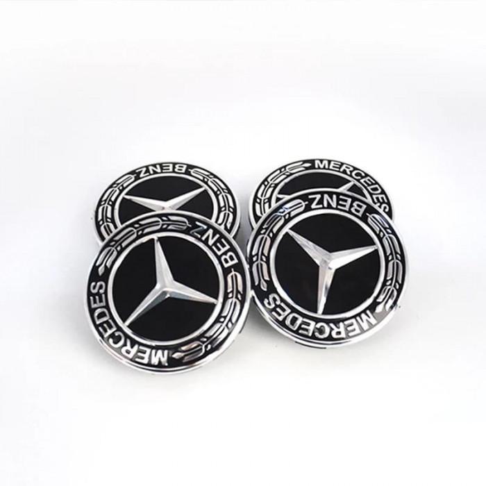 Capace jante aliaj Mercedes diametru 75mm set 4 buc