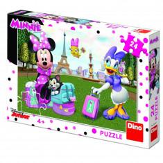 Puzzle Minnie si Daisy Dino Toys, 24 piese, 4 ani+