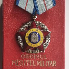 Ordinul Meritul Militar cls 2a Republica Socialista Romania - decoratie la cutie