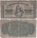 1870 (1 III), 25 cents (P-8a) - Canada