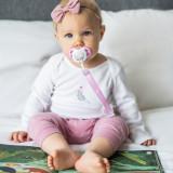 Lant suzeta Baby Ono cu clips roz