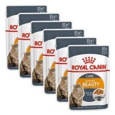 Royal Canin Intense BEAUTY in Jelly 6 x 85g - hrană în jeleu ambalat în pungă de aluminiu