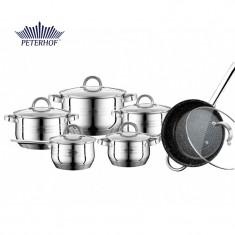 Set oale Fargo din inox cu capace din sticlă termorezistentă, Peterhof, 12 piese