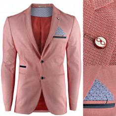 Sacou pentru barbati rosu casual slim fit premium inchidere doi nasturi Monaco