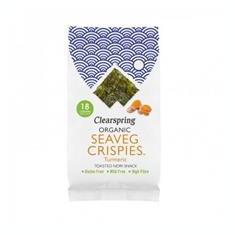 Alge Nori Snack Turmeric Bio 4 grame Clearspring Cod: 5021554002543