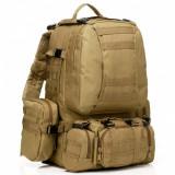 Rucsac Turistic pentru Drumetii, Capacitate 60L, Impermeabil, Buzunare Multiple si Imprimeu ARMY