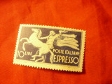 Timbru Italia Espresso 1945 , val. 10 lire, Nestampilat