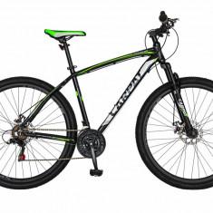Bicicleta MTB HT 29 FIVE Rubicon cadru aluminiu culoare negru verde