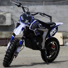 Mini Motocicleta Eco Ghepard 500W 24 V Pentru copil 4-8 ani, 3 Viteze #Albastru