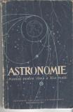 Astronomie - Manual pentru clasa a XI-a reala 1959 brosata