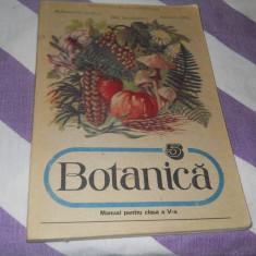 Botanica manual pentru cls a V-a- E. Sanielevici, Al. Dobija, Aglaia Ionel,1990