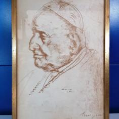 Tablou Papa Ioan al XXIII-lea , 36 x 22.8 cm ,print cu semnatura C3