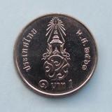 THAILANDA  -  1 Baht 2018  -  Rama X  -  aUNC