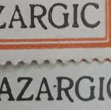 Fiscal cu eroare CAMERA DE COMERT SI INDUSTRIE -Supratipar BAZARGIC - anii 30, Nestampilat