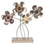 Decoratiune metal de masa model Flori 44 cm x 11 cm x 43 cm, Clayre & Eef