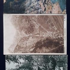 Lot de trei carti postale interbelice România - Cascade