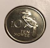 t396 Zambia 10 Ngwee 1968 UNC