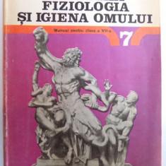 ANATOMIA , FIZIOLOGIA SI IGIENA OMULUI , MANUAL PENTRU CLASA A VII - A de ELISABETA MANDRUSCA si MIHAI PETEANU , 1991