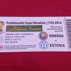 Bilet meci fotbal ROMANIA - ESTONIA (15.10.2013)